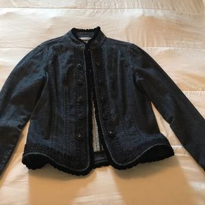Embroidered Jean Jacket - Chico's Platinum